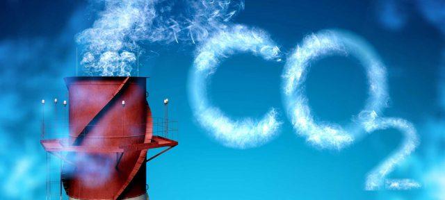 carbon footprint for environmental industry illustration