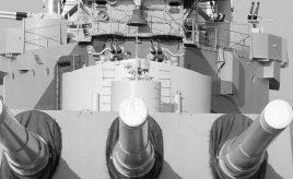 battleship with anti corrosion fabric on their guns
